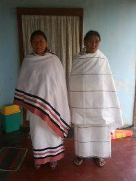 Naga women with traditional shawls